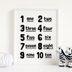 123 Printable Art, Counting Poster, Monochrome Nursery Art, Kids Room Decor, Numbers Wall Art, Kids Playroom Art Print *Instant Download* Nursery Decals, Nursery Wall Decor, Nursery Art, Wall Art Decor, Playroom Art, Art Wall Kids, Art Kids, Printing Websites, Online Printing