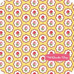 Pam Kitty Morning Yellow Buttons Yardage SKU# LH11011-YELLOW - Fat Quarter Shop