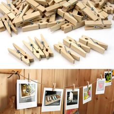 100 Pcs Mini Wooden Clothes Photo Paper Peg Clothespin Laundry Hangers party Crafts Gifts Cards Wedding Showers Decorations(China (Mainland))