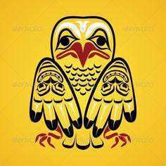 Vector Illustration of an Eagle #GraphicRiver Vector illustration of an eagle. Modern stylization of North American and Canadian native art in traditional