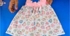 hermosa COMO HACER UNA FALDA Short para niñas hermosa Sewing Baby Clothes, Baby Sewing, Crochet Clothes, Frocks For Girls, Girls Dresses, Crochet For Kids, Crochet Baby, Baby Frocks Designs, Frock Design