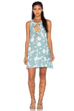 For Love & Lemons Sweet Jane Swing Dress in Robin Blue | REVOLVE