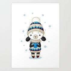 Sheep Art Print by Freeminds - $18.72