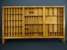 Vtg. Wooden Typeset Printing Letter Press Shadow Box Drawer Tray Hamilton Mfg A