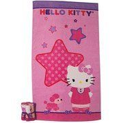 """Sanrio Hello Kitty """"Kitty and Me"""" 7-Piece Bath Towel and Washcloths Set by HK. $39.99. Add adorable style and super bright color to your bathroom with the Hello Kitty Bath Towel and Washcloths set. This Kitty and Me 7 Piece Bath Towel Set comes with six coordinating washcloths. These bathroom essentials emblazoned with Kitty and her friends will add a cute and colorful touch. Sanrio Hello Kitty """"Kitty and Me"""" 7-Piece Bath Towel and Washcloths Set: Sanrio Hello Kitty Bath Towel a..."""