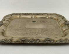Check out Vintage Silver Plated Serving Tray with Ornate Grape Design No. 5233 Forbes Silver Company on vintagecornerbazaar