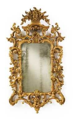 A fine George II giltwood pier Mirror circa 1755-60, via Sotheby's .