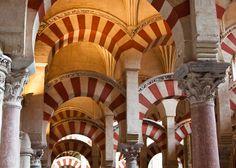 Red and White Pillars