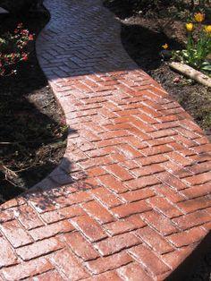 Herringbone Pattern Stamped Concrete Love This Pattern