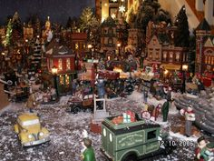A section of my own (Debbie Holt) Dept. 56 Christmas in the City village display
