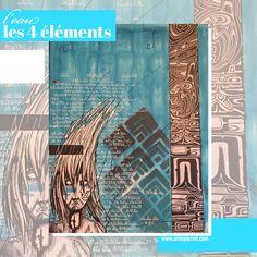 1er tableau d'une série sur les 4éléments. 4 Elements, Mystique, Symbols, Letters, Art, Marker, Board, Art Background, Kunst