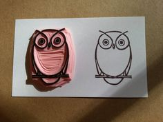 This stamp is a simple hand carved owl . It is carved on Speedball Speedy Carve. My stamps are usually 2 x 3. If you need a custom size