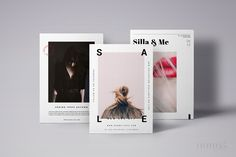 3 Postcard Flyers Editorial Fashion ~ Flyer Templates on Creative Market