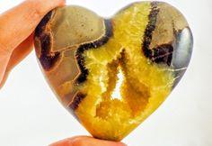 Dragon Stone,Septarian  Nodule Hollow Crystal Heart ( Utah )