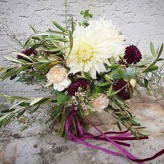 #big #vintage #bridalbouquet #wedding #flowers #prewiew #boho #brautstrauß #dahlia #Hochzeit #velvet