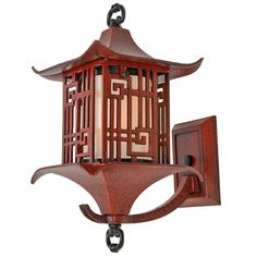Chinoiserie Cast Wall Lantern in Antiqued Ming Red, USA, Vintage Wall Lights, Modern Wall Lights, Japanese Garden Lanterns, Landscape Plaza, Asian Lamps, Chinese Wall, Chinese Interior, Bamboo Light, Asian Decor