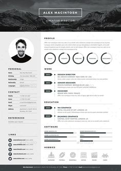 Mono Resume template by www.ikono.me 3 page templates, 90+ icons, Adobe Indesign, illustrator and photoshop files. #resume #template #design Más