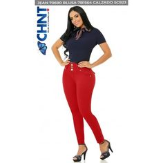 70690PAP-R BUTT LIFTING JEANS Basic Style, Blouse Styles, New Product, Polyester Spandex, Short Sleeves, Skinny Jeans, Casual, Fashion, Moda