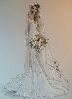 52 Ideas Fashion Design Sketches Wedding Beautiful For 2019 Source by dresses sketches Wedding Dress Sketches, Dress Design Sketches, Fashion Design Drawings, Designer Wedding Dresses, Fashion Sketches, Fashion Illustrations, Wedding Dress Illustrations, Drawing Fashion, Fashion Sketchbook