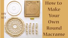 Have a great time trying your macrame skills with Mandala Life ART DIY Round Macrame Kit Kit Includes macrame cords , metal rings , wooden hoop and scale. Mandala Towel, Macrame Wall Hanging Diy, Wooden Hoop, Macrame Cord, Macrame Design, Wooden Rings, Macrame Patterns, Creative Activities, Decoration