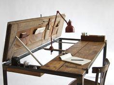 riutilizzare vecchie porte in stile shabby chic tavolo da lavoro