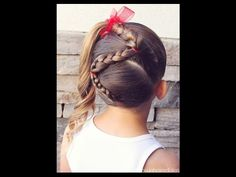 How to: Zig Zag Braid into a High Side Ponytail / Brown Haired Bliss - YouTube