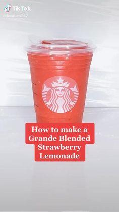Bebidas Do Starbucks, Secret Starbucks Drinks, Starbucks Coffee, Starbucks Smoothie, Starbucks Pink Drink Recipe, Fruit Smoothie Recipes, Smoothie Drinks, Coffee Drink Recipes, Fun Baking Recipes