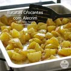 Receita batata crocante com alecrim -  Dicas de como fazer - Passo a passo com fotos - Tutorial with pictures - How to make baked potatoes s...