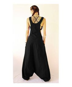 Aladdin Harem Jumpsuit  with coconut buttons Overalls  Women