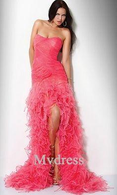 5964f046b5d Ruffled Strapless Prom Dress by Jovani 7333 Style  Name  Jovani Dress 7333  Closure  Zipper Details  Cascading Ruffles