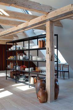 Лофт на последнем этаже офисного здания в Копенгагене | Пуфик - блог о дизайне интерьера