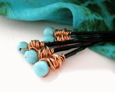 Etsy :: Your place to buy and sell all things handmade Turquoise Hair, Turquoise Bracelet, Hair Jewelry, Women Jewelry, Unique Jewelry, Bohemian Hair Accessories, Bobby Pin Hairstyles, Hair Ribbons, Bohemian Hairstyles