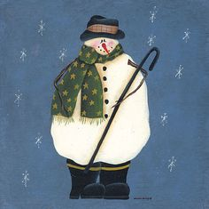 Hiver & Noel  country & folk art B