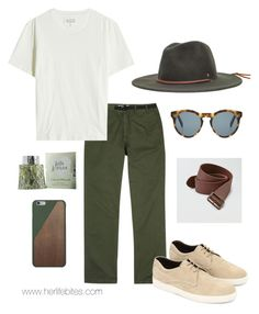 """""""Greenery for men"""" by caritoviena on Polyvore featuring Norse Projects, Maison Margiela, Tod's, Lolita Lempicka, DICK MOBY, Brixton, Native Union, American Eagle Outfitters, men's fashion and menswear"""
