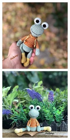 Amigurumi Little Frog Free Pattern – Free Amigurumi Crochet Crochet Frog, Crochet Mouse, Crochet Amigurumi Free Patterns, Crochet Dolls, Easy Crochet, Free Crochet, How To Make Frames, Crochet For Beginners, Amigurumi Doll