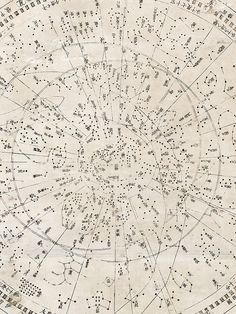 Japanese star map; Tenmon Bun'ya no zu - detail view (map showing divisions of the heavens and regions they govern), 1677