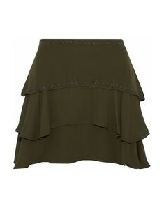 Shop on-sale HAUTE HIPPIE Tiered eyelet-embellished silk-chiffon mini skirt. Browse other discount designer Mini Skirt & more on The Most Fashionable Fashion Outlet, THE OUTNET. Haute Hippie, Military Green, Army Green, Embellished Dress, Fashion Outlet, Silk Chiffon, World Of Fashion, Fitness Models, Luxury Fashion