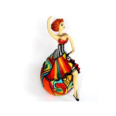 Exotic dancer collectible gourd doll art - www.brazilartsandcrafts.com
