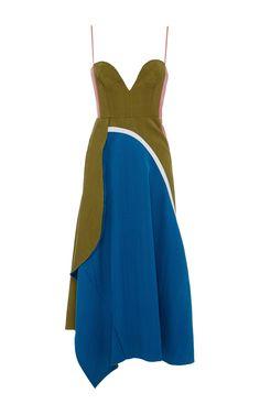 Tussah Silk Viscose Weave Sleeveless Dress by Marni Now Available on Moda Operandi