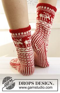 drops patterns knitting free christmas socks | Grandmother's Pattern Book Sharing Links and Patterns Every Day!