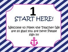 This meet the teacher packet includes 6 signs for you to guide your parents around your classroom