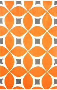 Barcelona Deep Orange Gabriela Area Rug