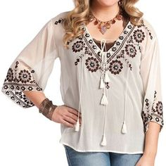 Rancho Estancia Women's Kirsten Long Sleeve Blouse