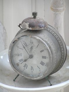 Antique grey clock...