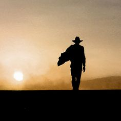 Cowboy walking into the sunset The Dark Tower, Into The West, Dusk Till Dawn, Fallout New Vegas, High Noon, Red Dead Redemption, Foto Art, Cowboy And Cowgirl, Old West
