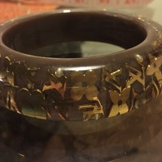 Louis Vuitton  bangle Gold & clear inclusion LV in brand new condition Louis Vuitton Jewelry Bracelets