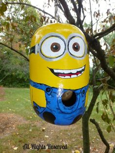 Birdhouse Gourd Art Hand Painted - Adorable as a Doll!