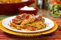 Chicken Parmesan simplified. Now its ready in 25 minutes with this easy recipe. The combination of cheese, fire roasted tomatoes and zesty Italian dressing gives this dish such a vibrant flavor, it will leave you begging for more!