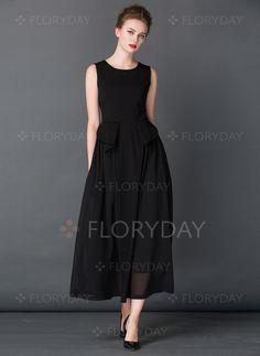 Kleider - $230.31 - Viskose Ärmellos Maxi Lässige Kleidung Kleider (1955107507)
