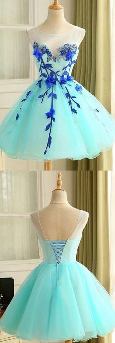 2017 Ball Gown Tulle Homecoming Dress Beautiful A Line Flower Short Prom Dress Party Dress WF01-16